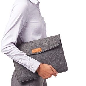 Classic 13-Inch Felt Laptop Sleeve in Charcoal